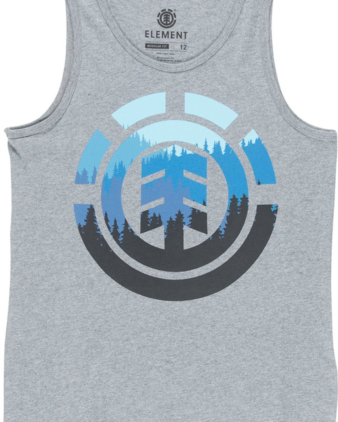 1 Glimpse Icon Singlet - Tee Shirt for Boys Grey N2SGA1ELP9 Element