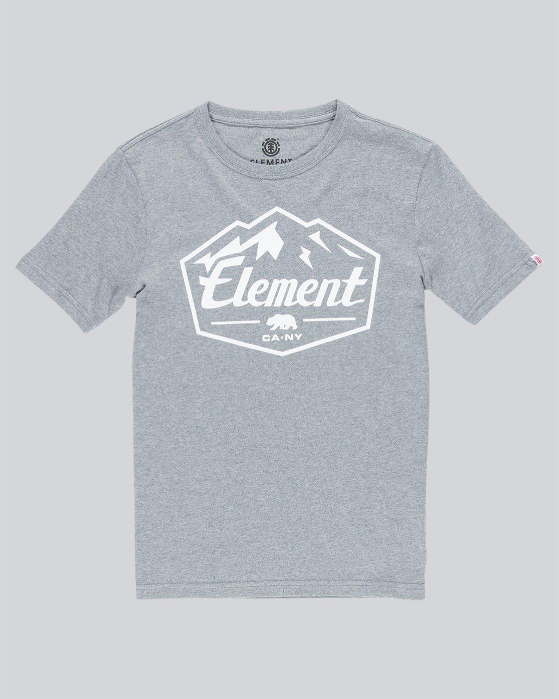 0 Slab Ss Boy - Tee Shirt for Boys Grey N2SSB3ELP9 Element