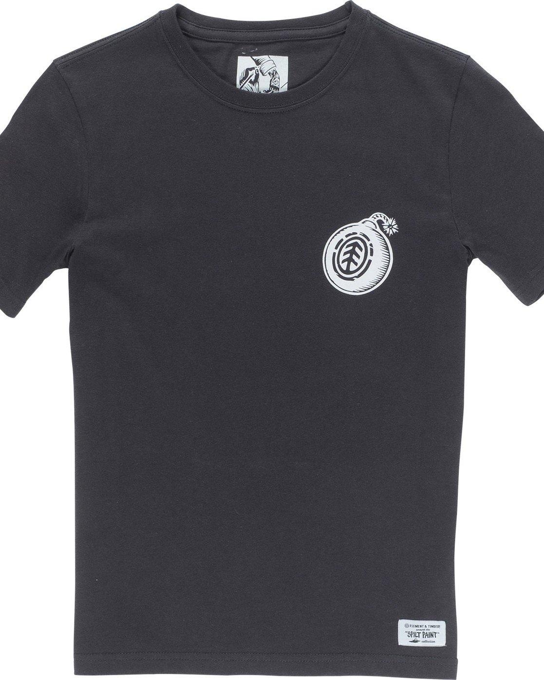 2 Blast Ss Boy - Tee Shirt for Boys Black N2SSB8ELP9 Element