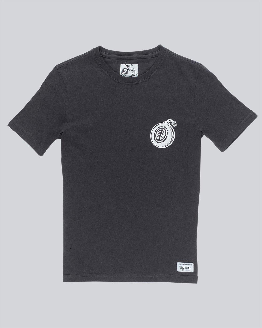 0 Blast Ss Boy - Tee Shirt for Boys Black N2SSB8ELP9 Element