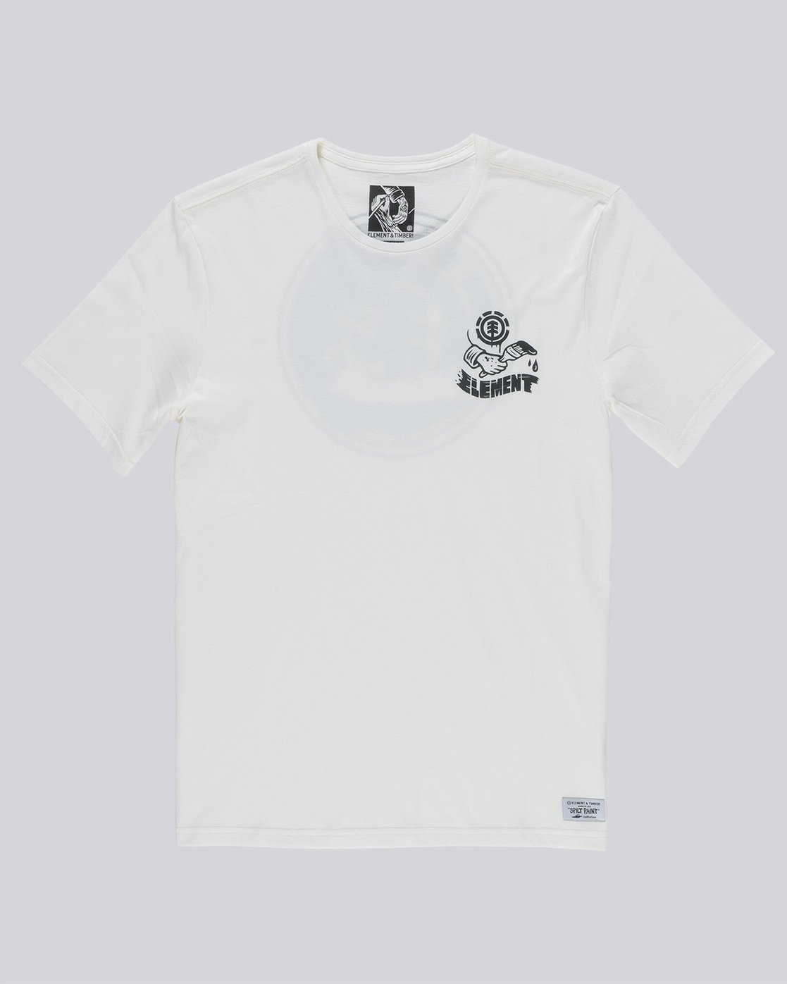 0 Painted Ss Boy - Tee Shirt for Boys White N2SSC4ELP9 Element