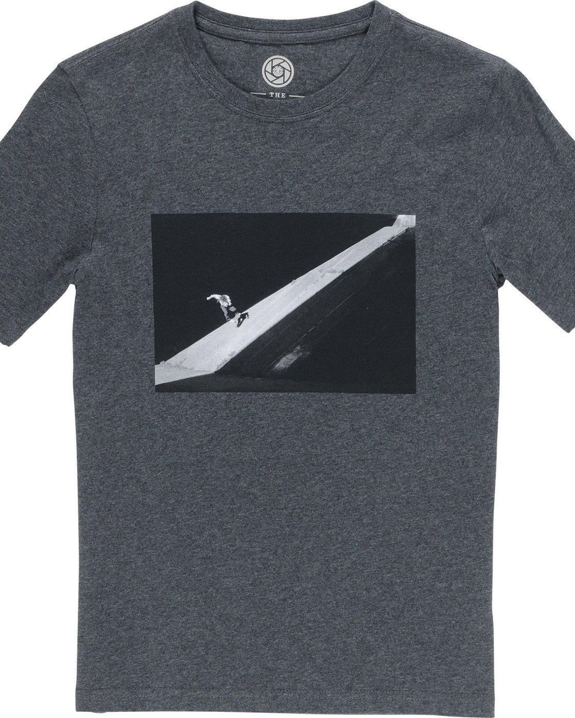 1 Slash Ss Boy - Tee Shirt for Boys Grey N2SSC6ELP9 Element