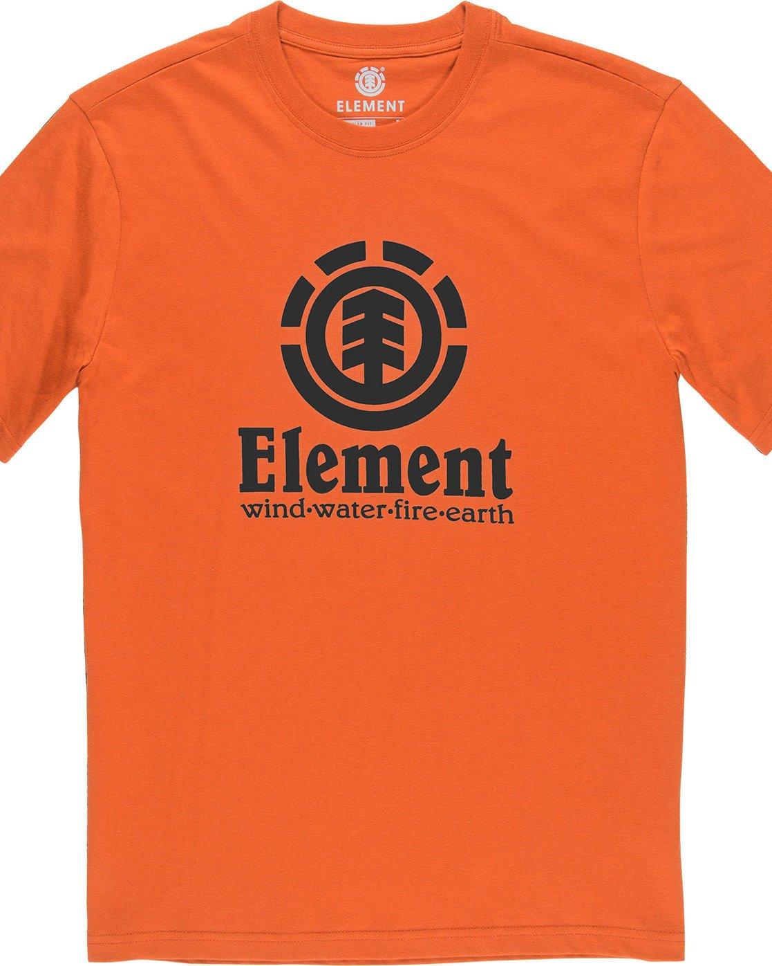 1 Vertical - Short Sleeve T-Shirt for Boys Red N2SSC8ELP9 Element