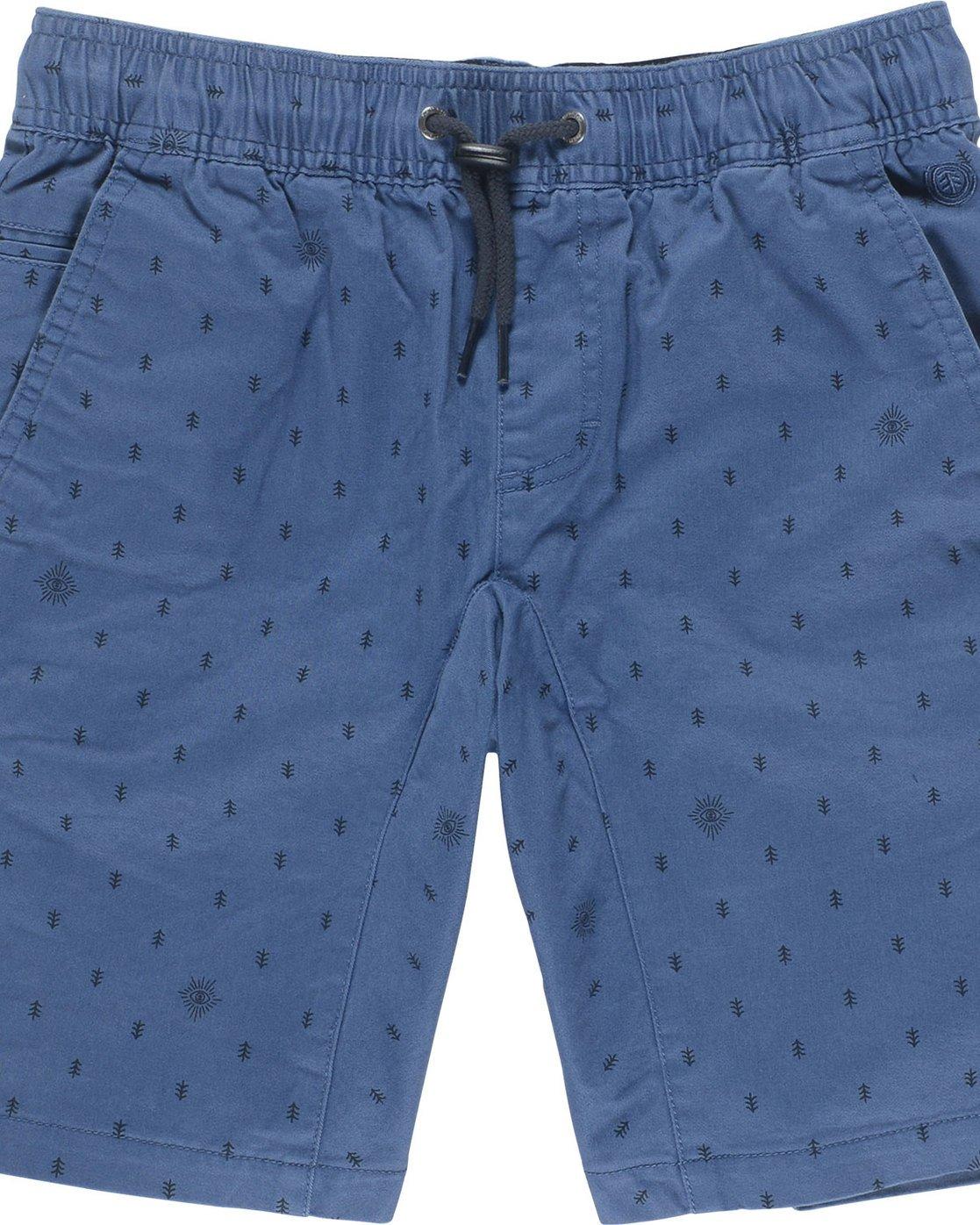 1 Altona Print Wk Boy - Walkshort for Boys Blue N2WKA2ELP9 Element