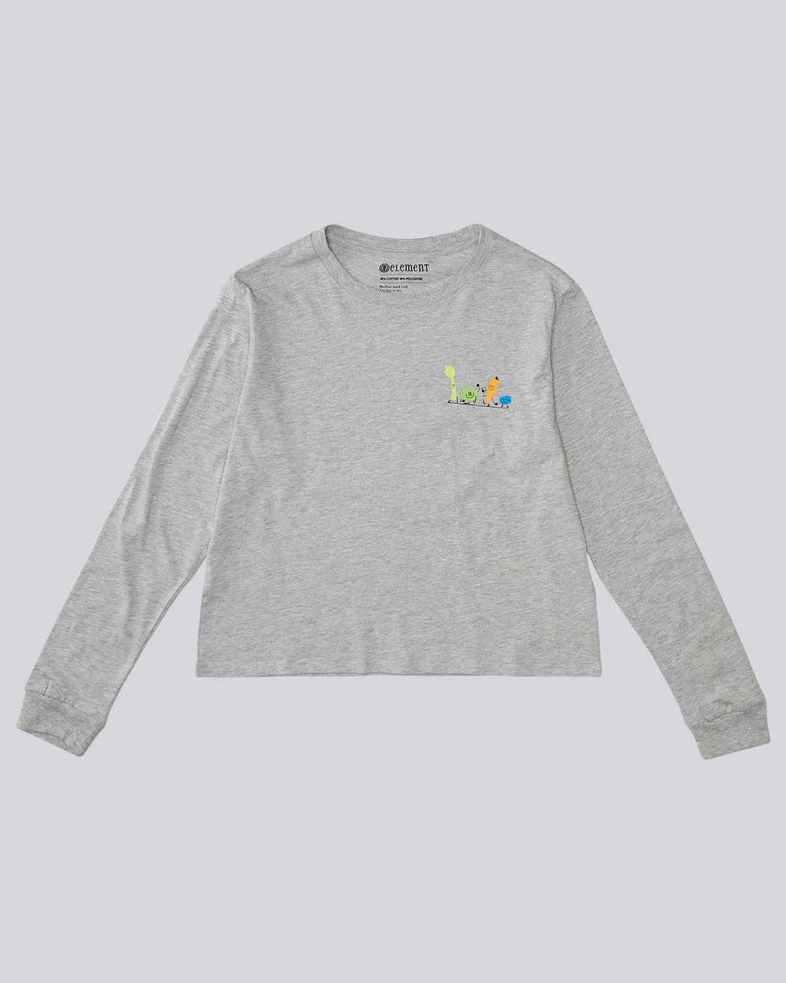 0 Yawyd Crop Ls - Tee Shirt for Women Grey N3LSA7ELP9 Element