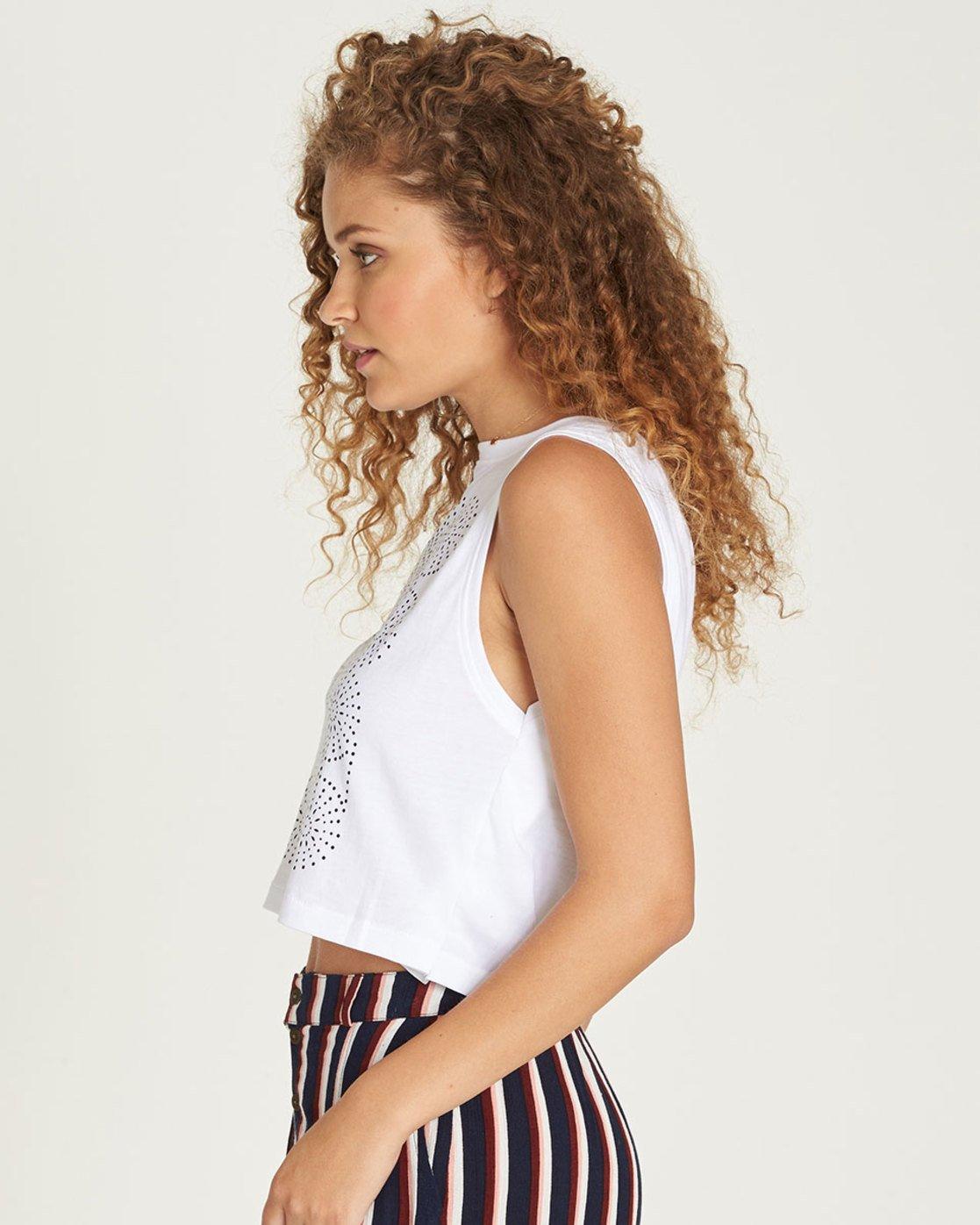 1 Random Crop Tank - Tee Shirt for Women White N3SGA1ELP9 Element