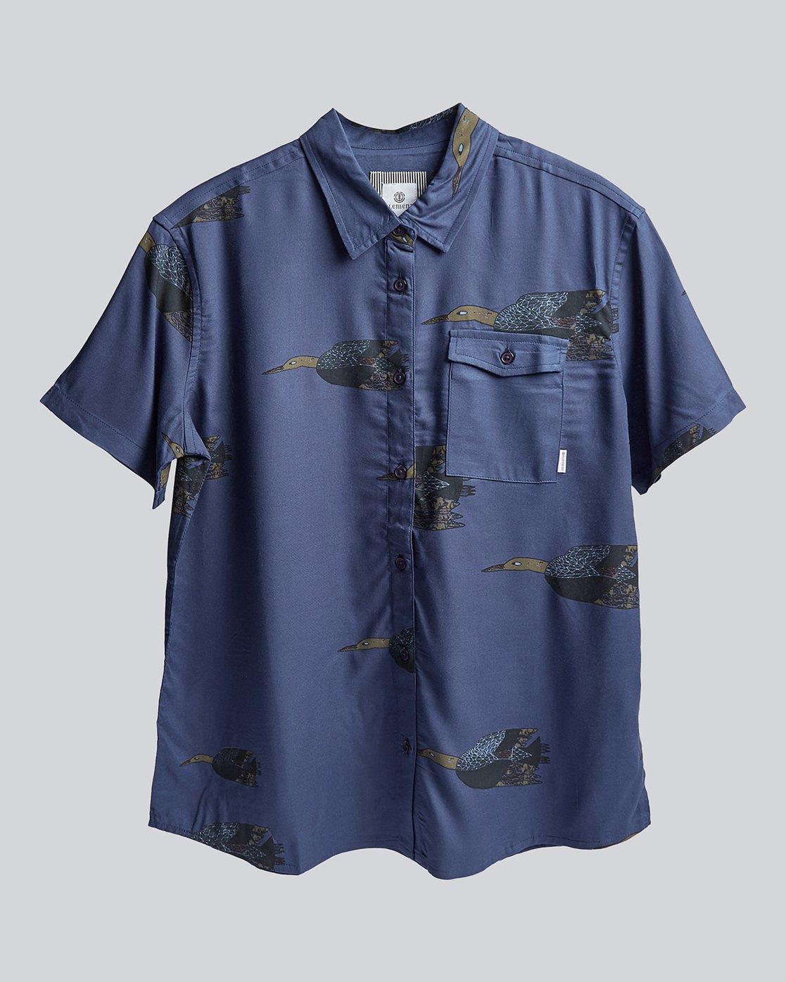0 Kershnar Ss - Shirt for Women Blue N3SHA9ELP9 Element