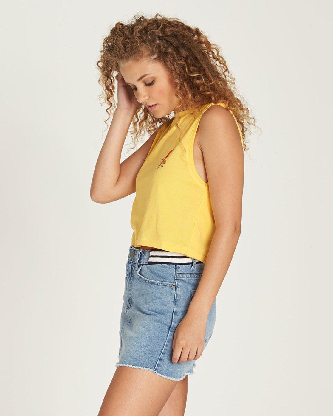 1 Yawyd Crop Tank - Tee Shirt for Women Yellow N3SSB2ELP9 Element
