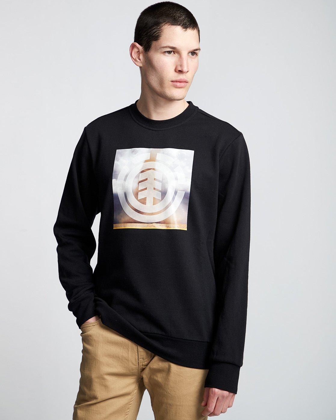 0 Combust Icon - Sweatshirt Black Q1CRB3ELF9 Element