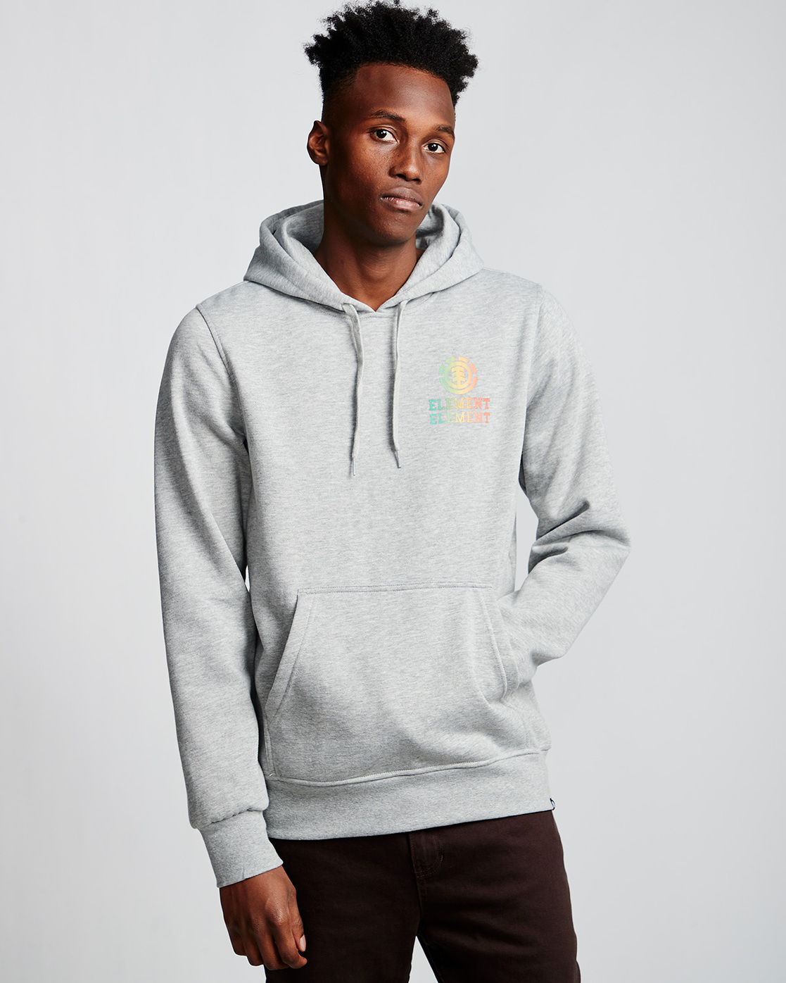 0 Drop - Pull à capuche pour Homme Gris Q1HOB1ELF9 Element