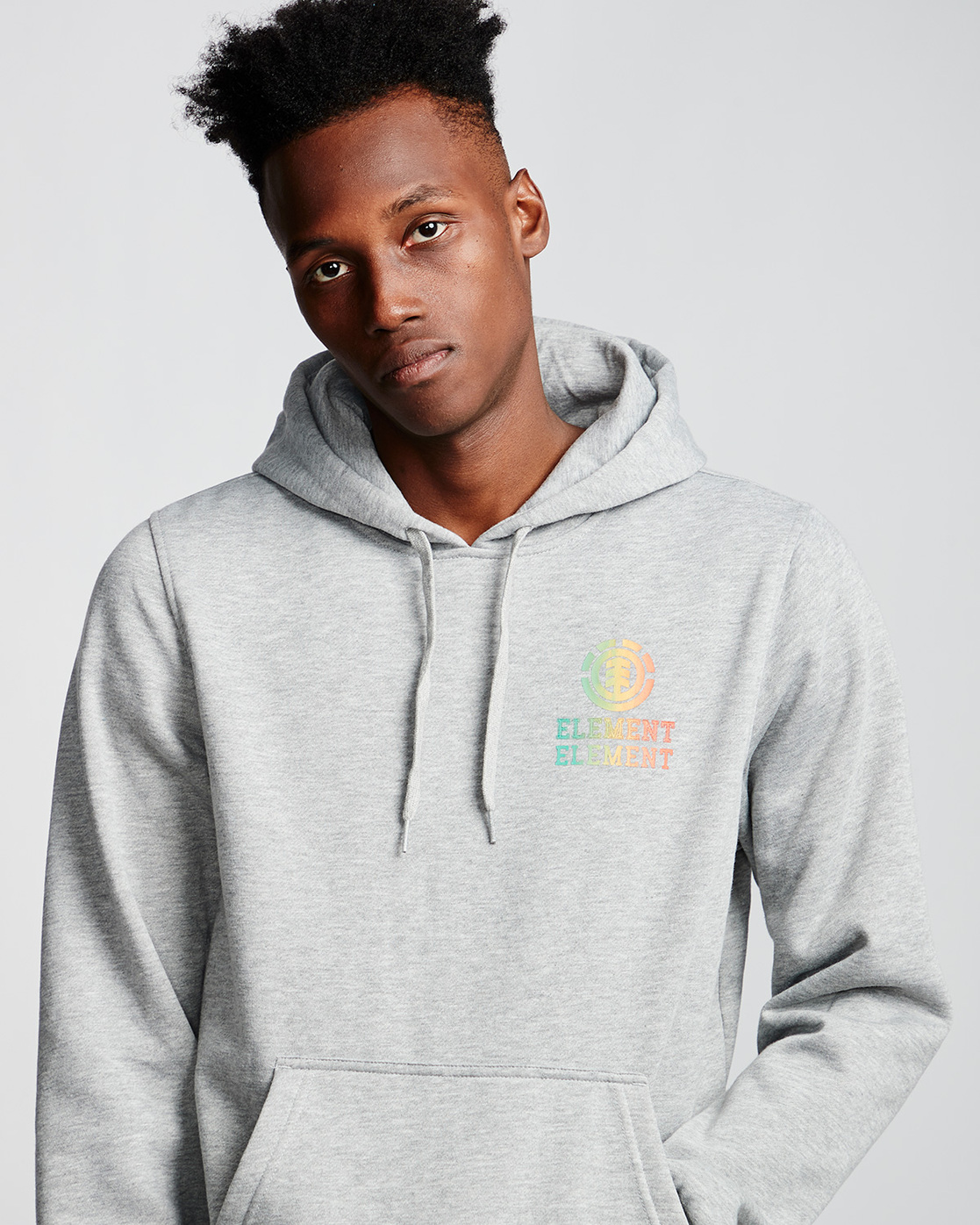 1 Drop - Pull à capuche pour Homme Gris Q1HOB1ELF9 Element