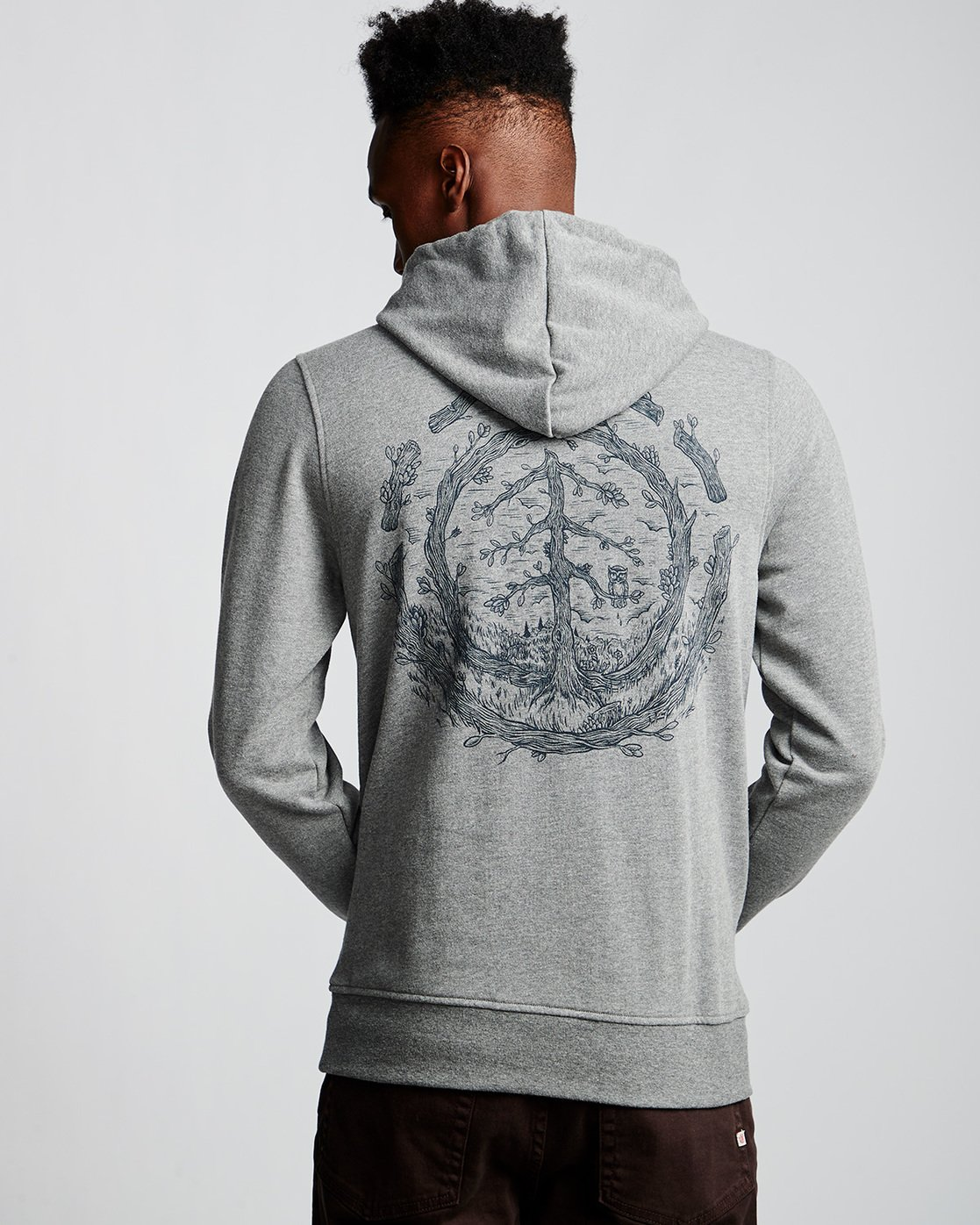 2 Too Late Logo - Hoodie Grey Q1HOC3ELF9 Element