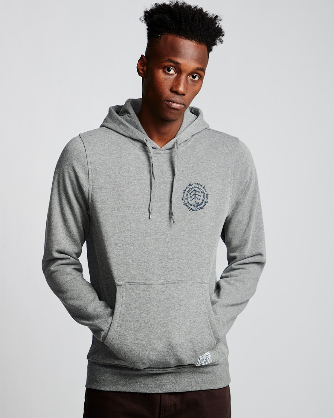 0 Too Late Logo - Hoodie Grey Q1HOC3ELF9 Element