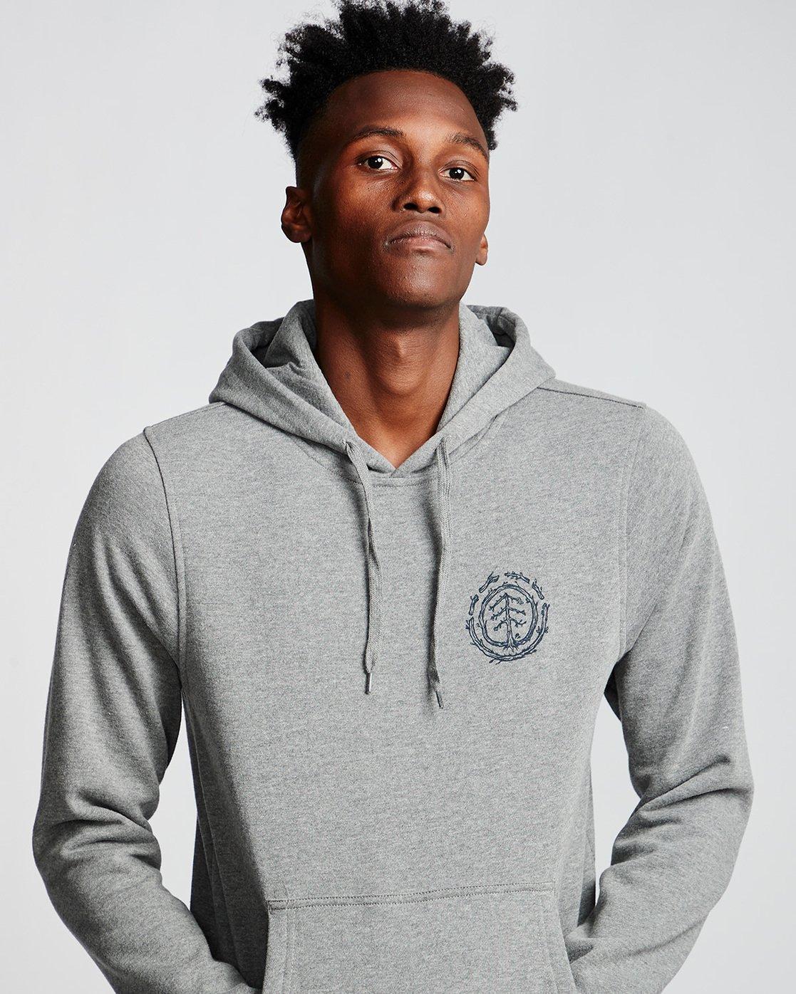 1 Too Late Logo - Hoodie Grey Q1HOC3ELF9 Element