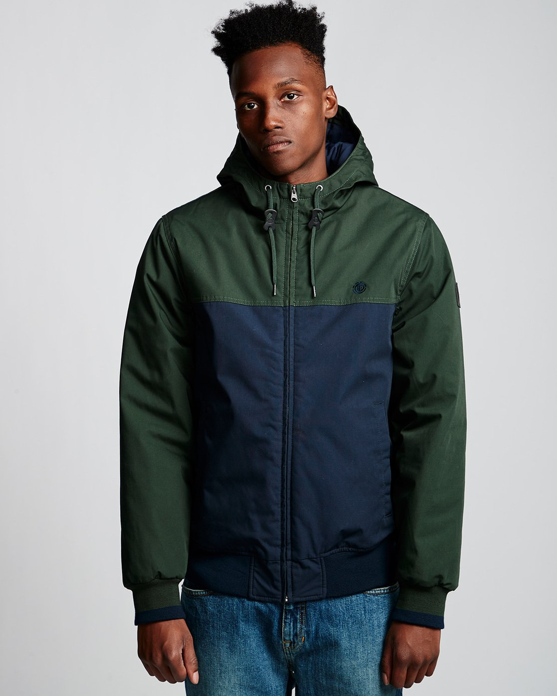 0 Dulcey 2 Tones - Hooded Jacket Green Q1JKB3ELF9 Element