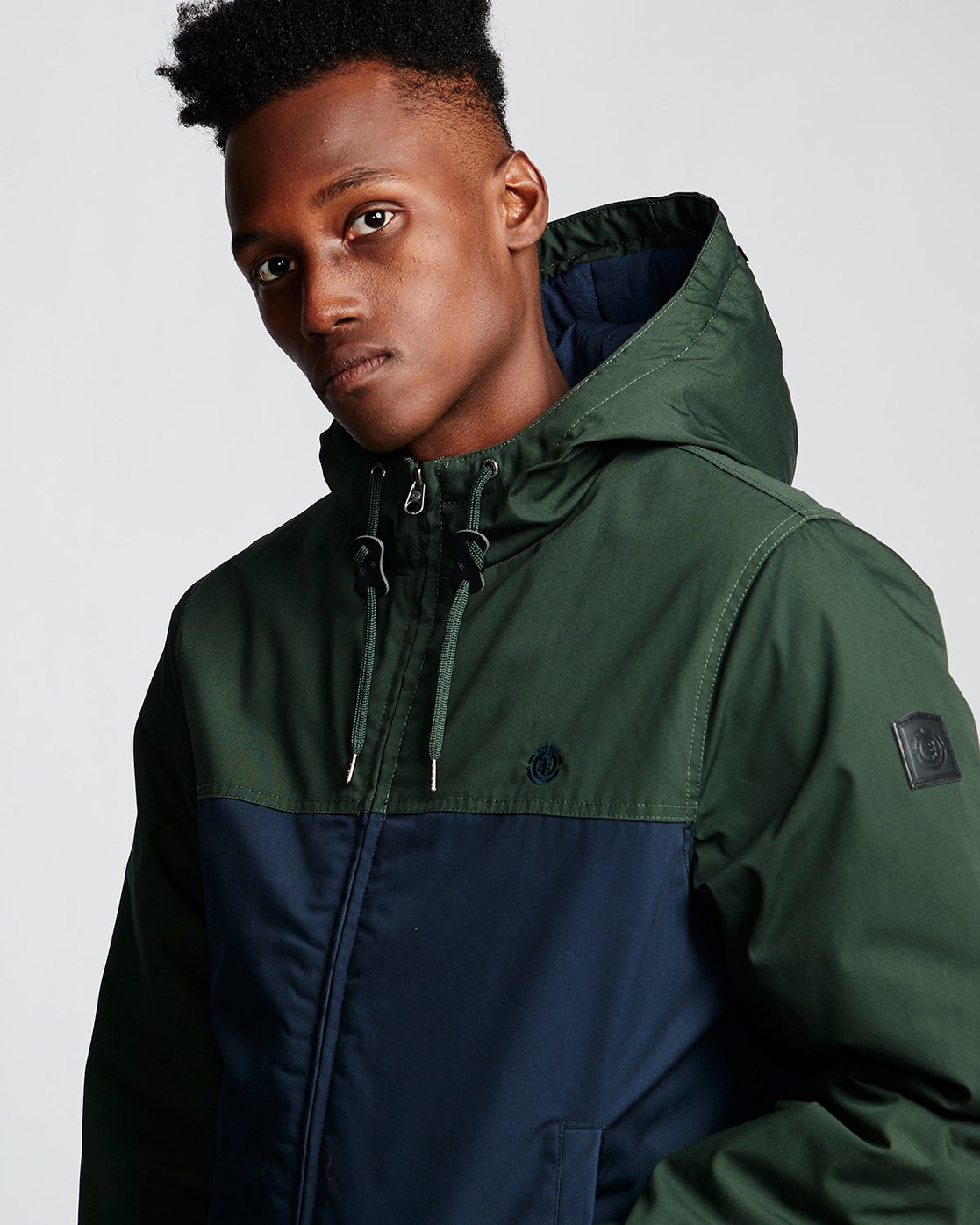 1 Dulcey 2 Tones - Hooded Jacket Green Q1JKB3ELF9 Element