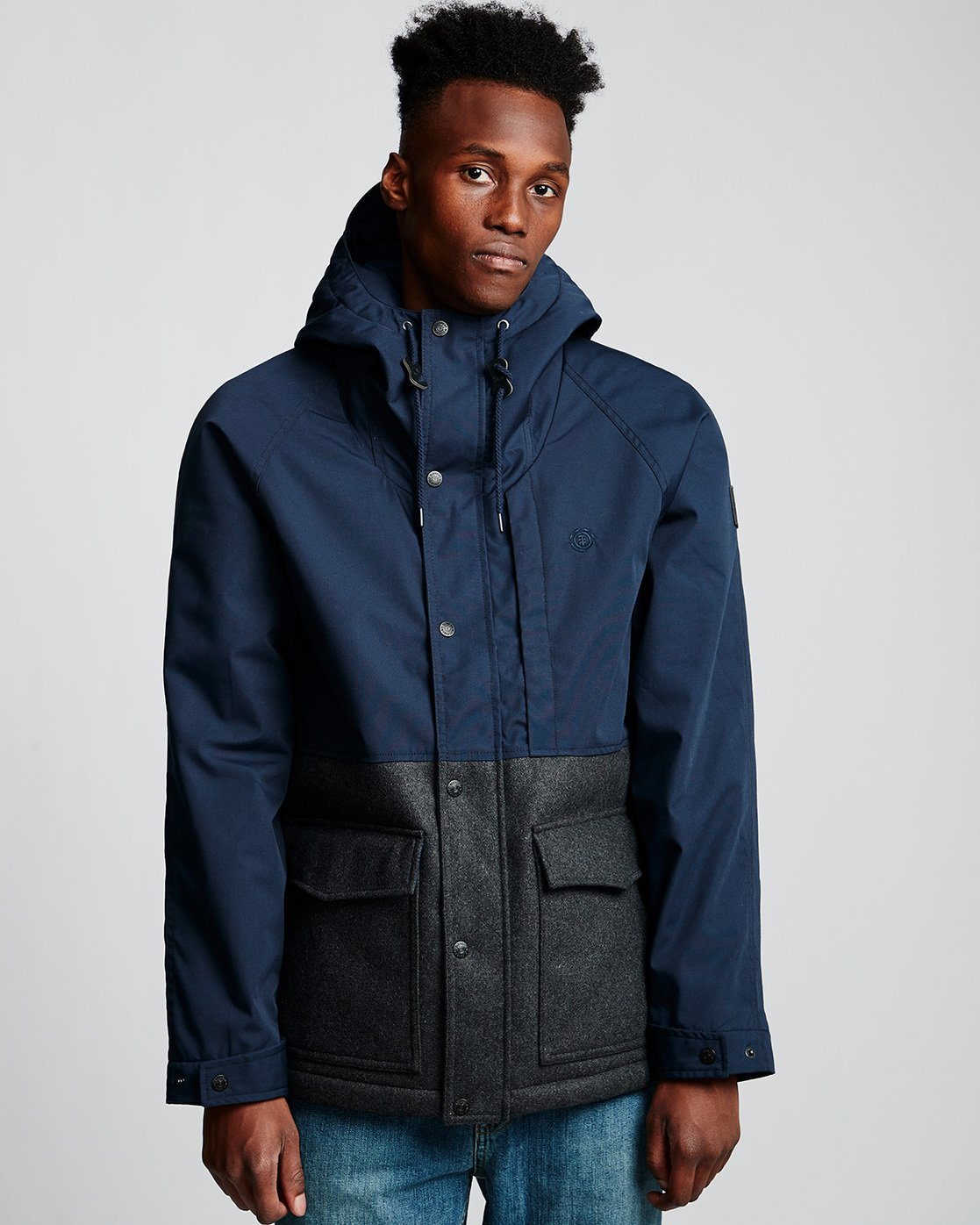 0 Birchmont - Parka da Uomo Blue Q1JKB7ELF9 Element