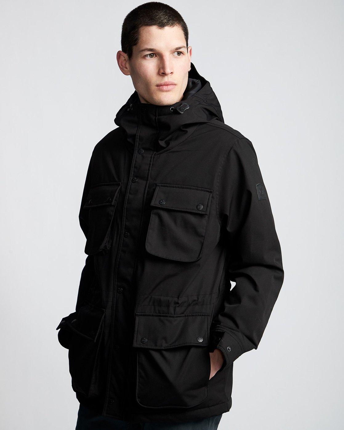 0 Boulder Brook - Hooded Jacket Black Q1JKB9ELF9 Element