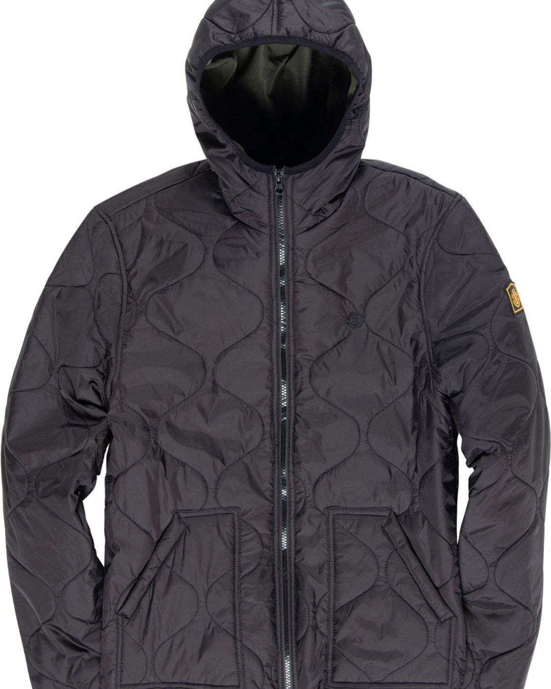 6 Albee - Hooded Jacket Black Q1JKC9ELF9 Element