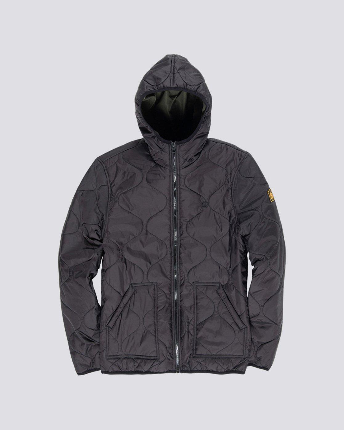 5 Albee - Hooded Jacket Black Q1JKC9ELF9 Element