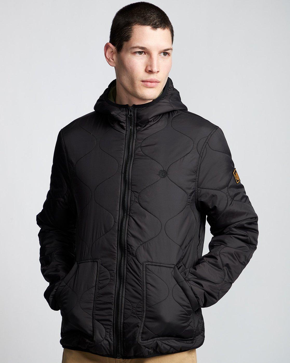 0 Albee - Hooded Jacket Black Q1JKC9ELF9 Element