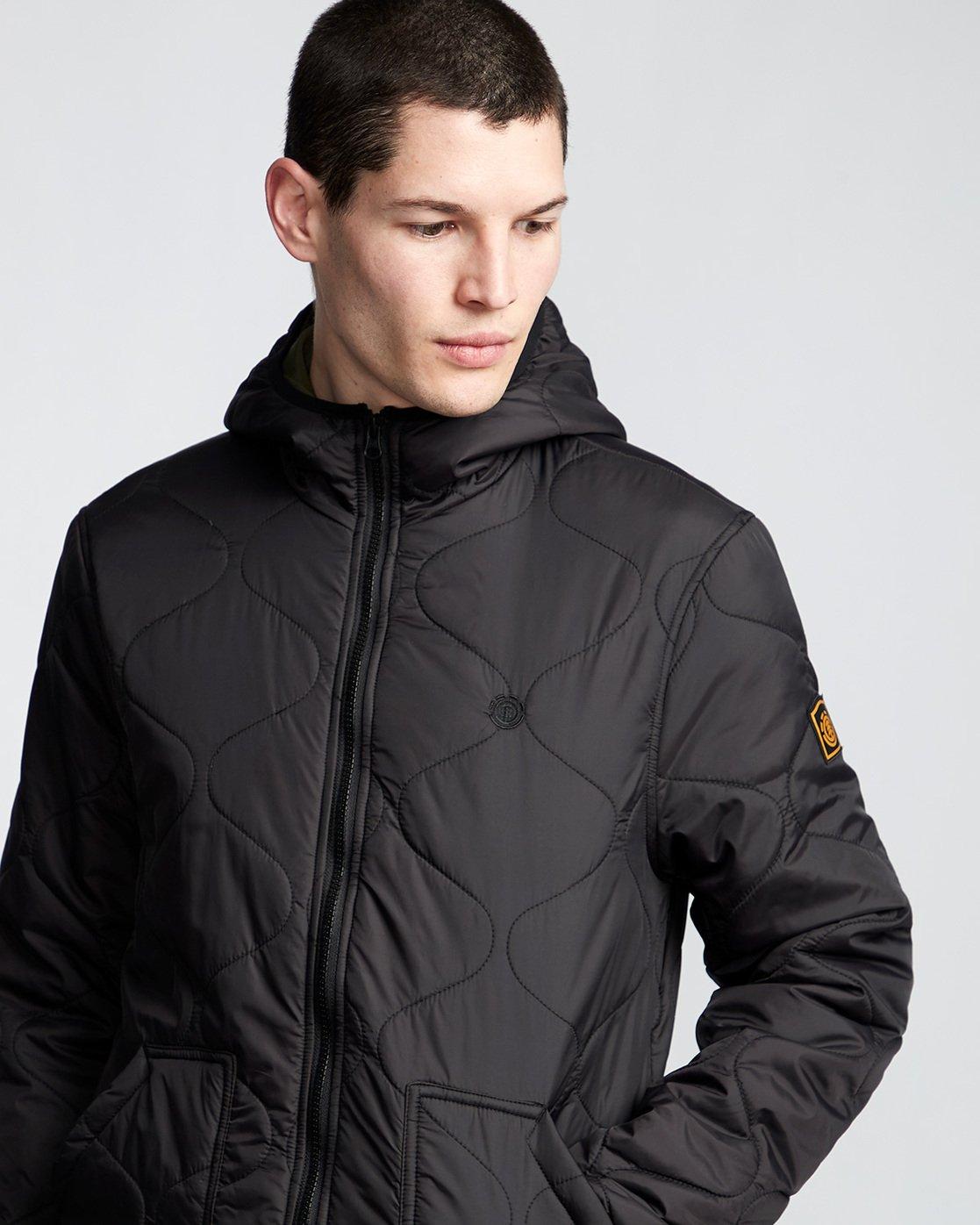 1 Albee - Hooded Jacket Black Q1JKC9ELF9 Element
