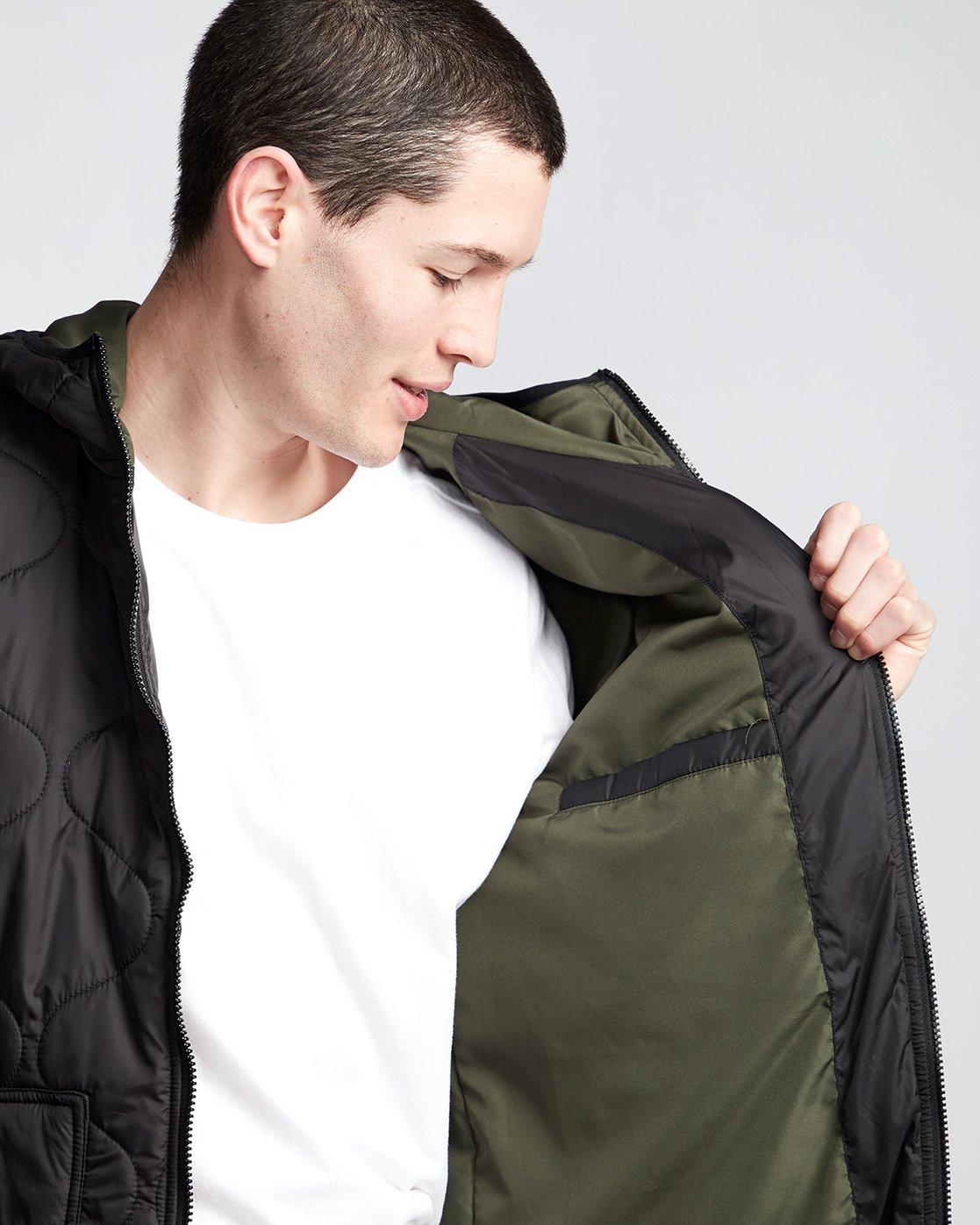 3 Albee - Hooded Jacket Black Q1JKC9ELF9 Element