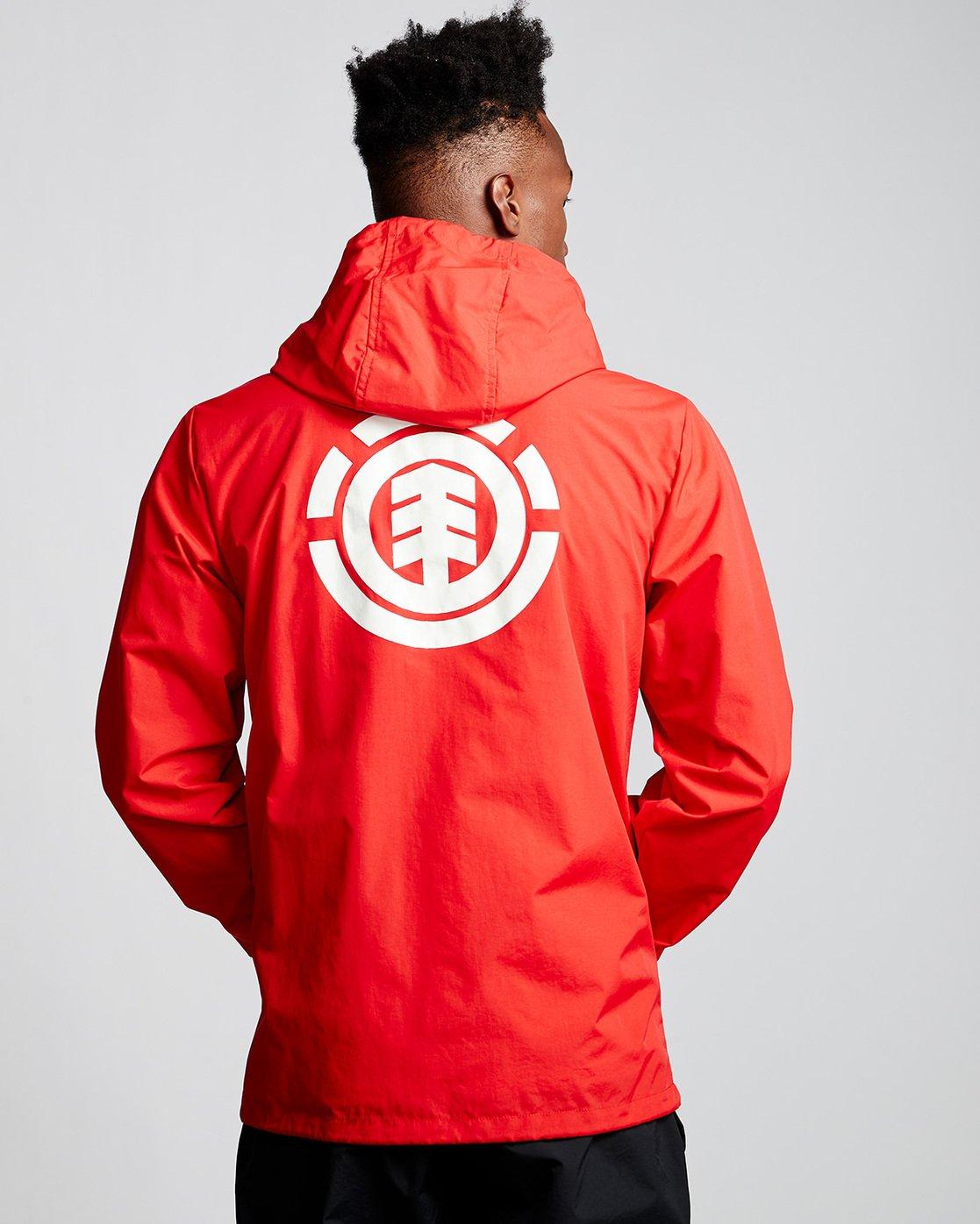 1 Primo Alder - Hooded Coach Jacket Red Q1JKE4ELF9 Element