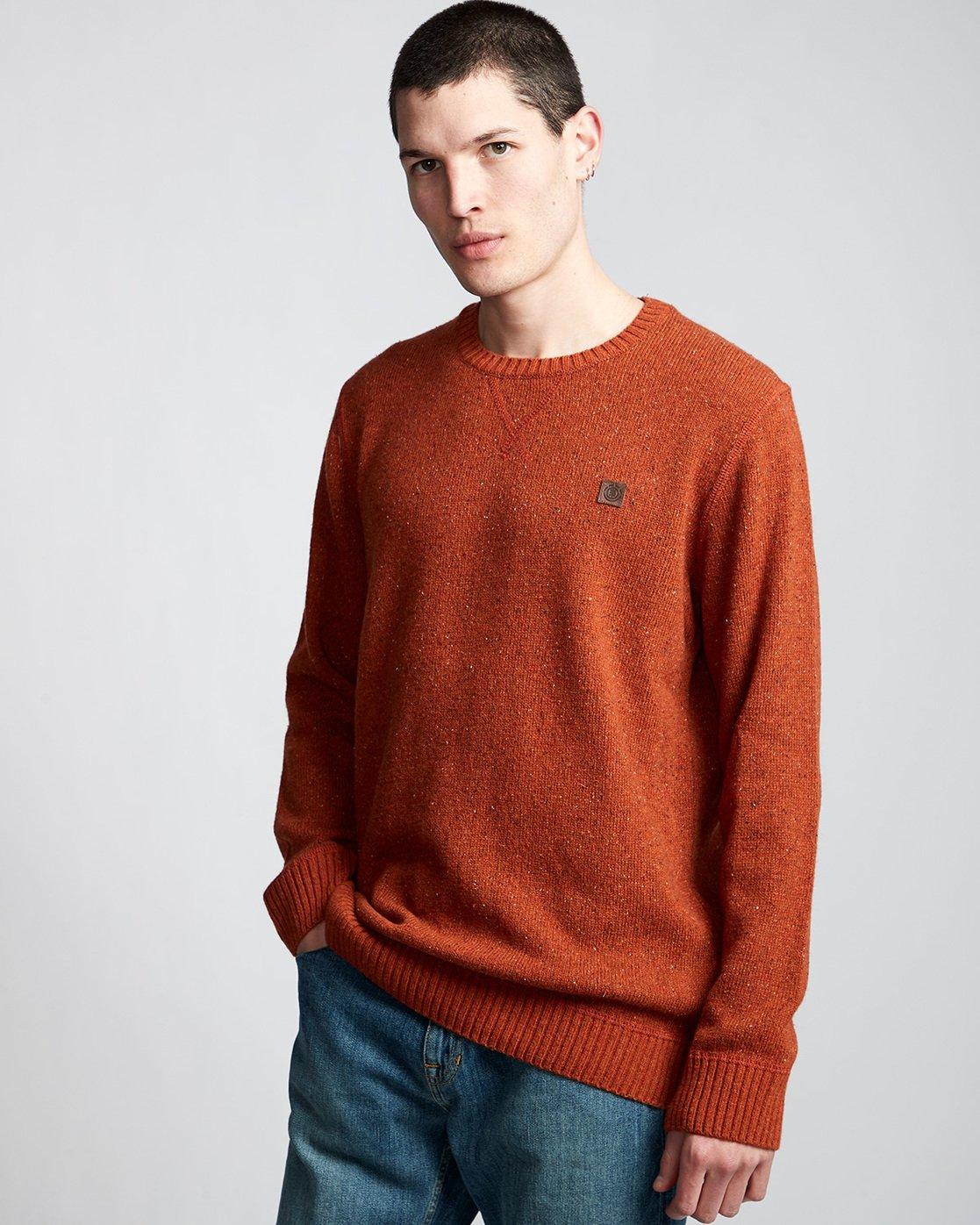 0 Kayden - Pullover für Männer Orange Q1JPA1ELF9 Element