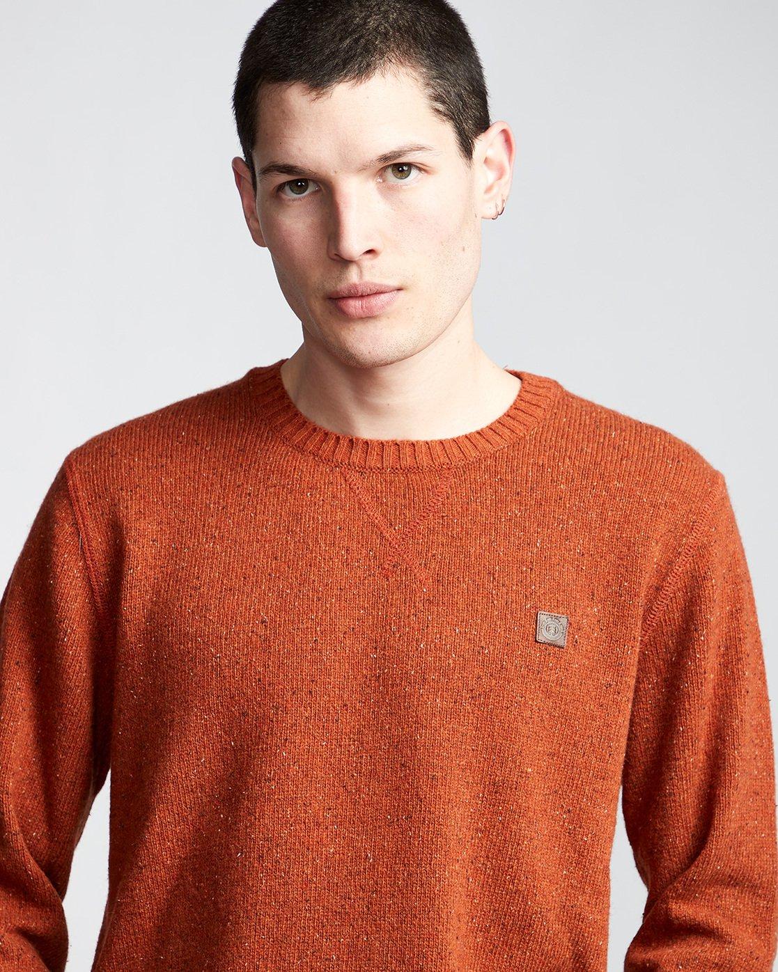 1 Kayden - Pullover für Männer Orange Q1JPA1ELF9 Element