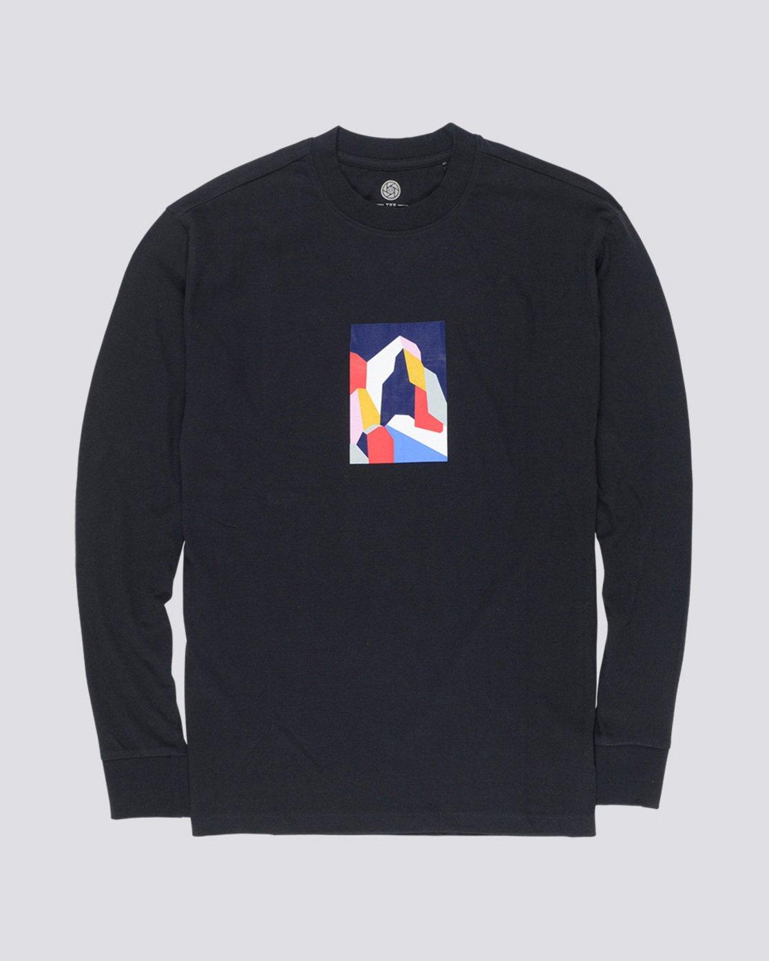 3 SD - Long Sleeve T-Shirt Black Q1LSA2ELF9 Element