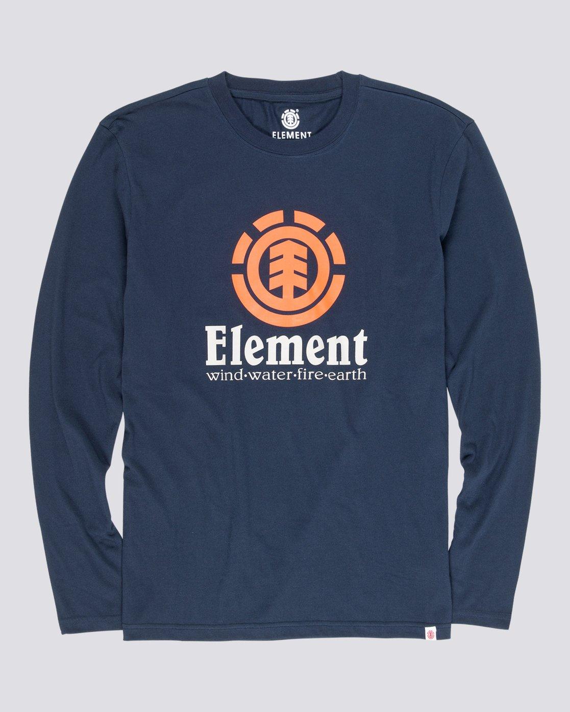 4 Vertical - T-Shirt manches longues pour Homme Bleu Q1LSA3ELF9 Element