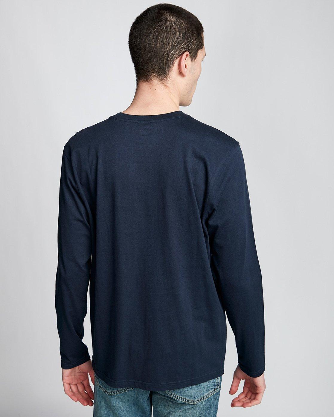 2 Vertical - T-Shirt manches longues pour Homme Bleu Q1LSA3ELF9 Element