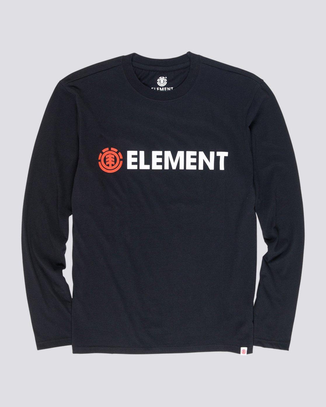 3 Blazin - T-Shirt manches longues pour Homme Noir Q1LSA4ELF9 Element