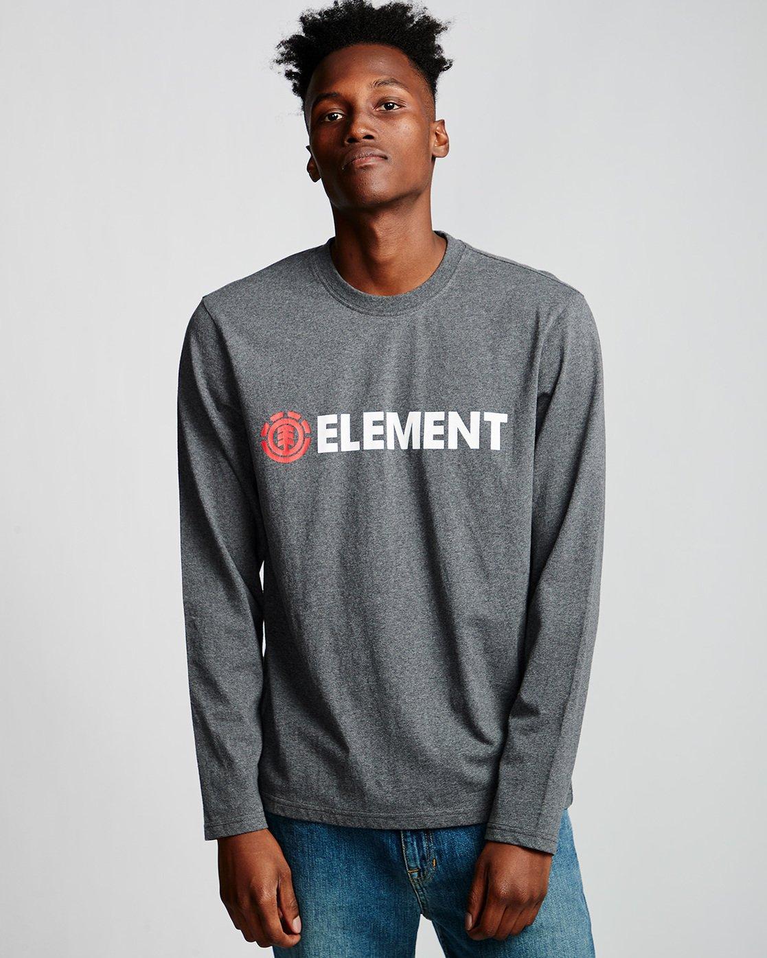 0 Blazin - Long Sleeve T-Shirt for Men Grey Q1LSA4ELF9 Element