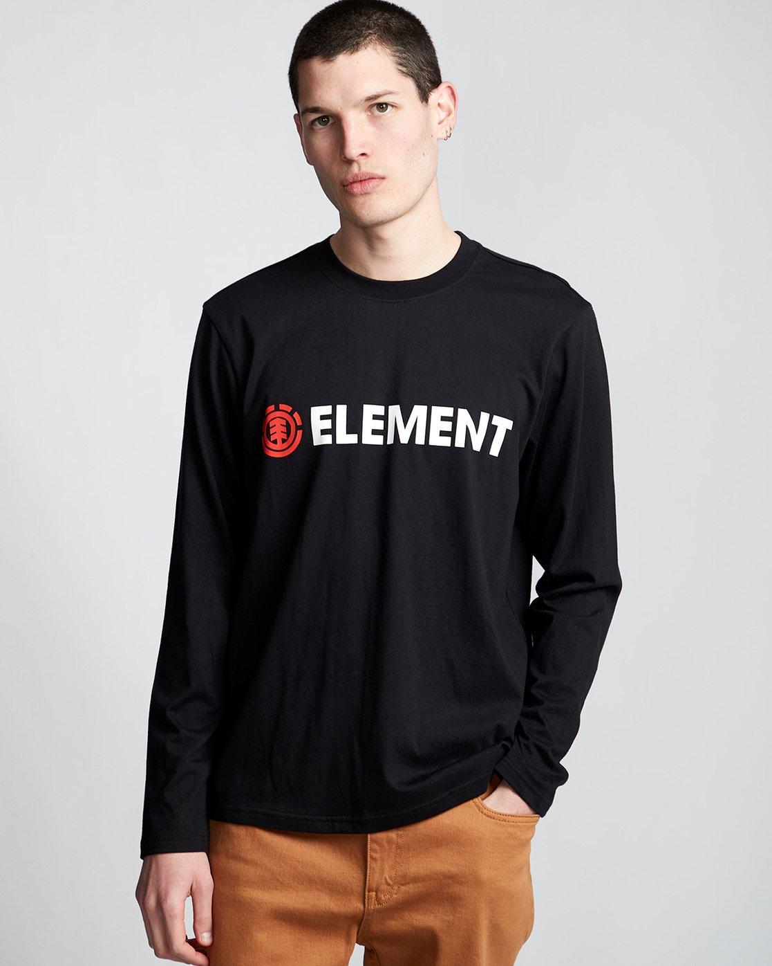 0 Blazin - T-Shirt manches longues pour Homme Noir Q1LSA4ELF9 Element