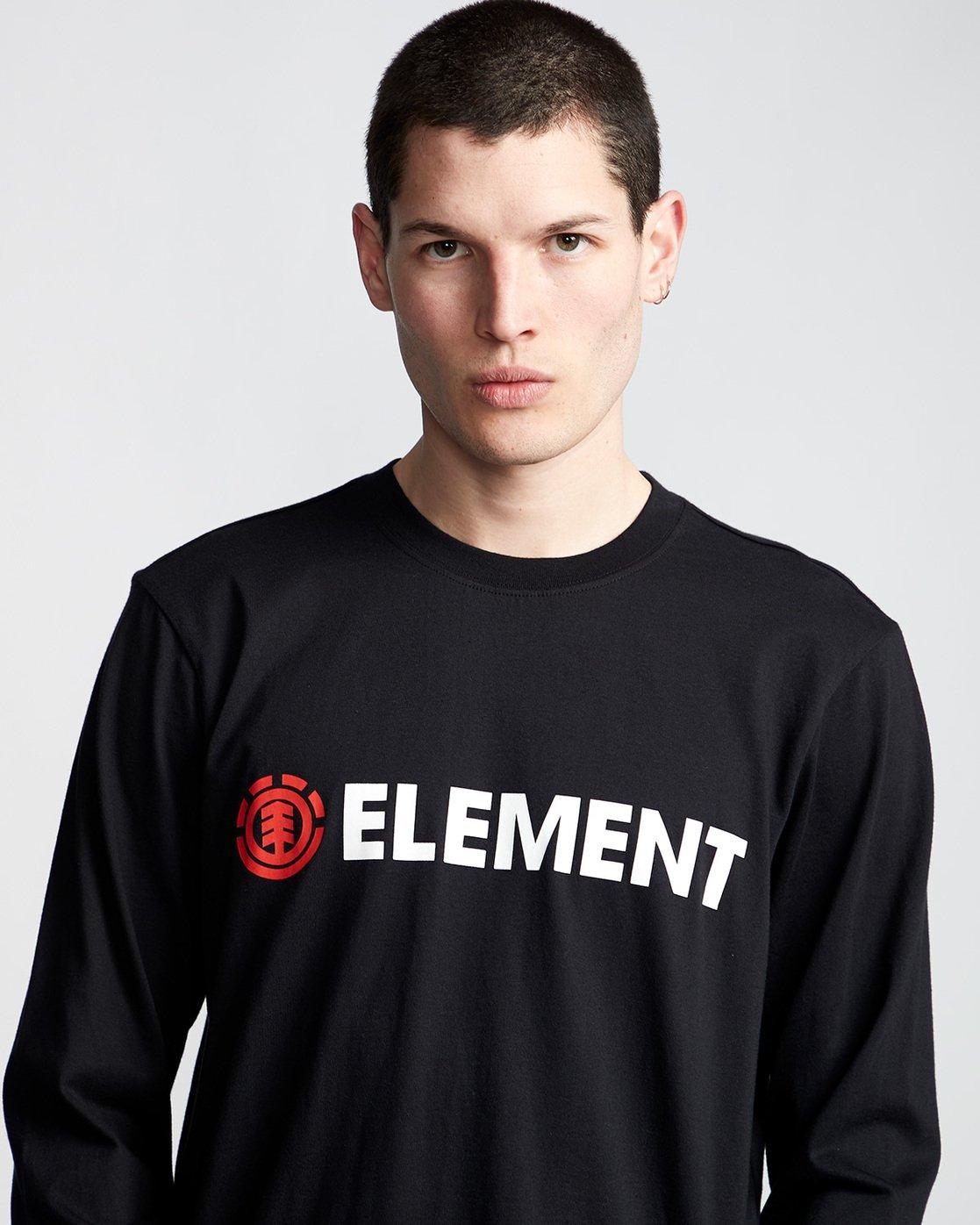 1 Blazin - T-Shirt manches longues pour Homme Noir Q1LSA4ELF9 Element