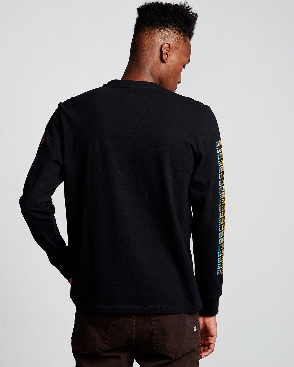 2 Drop - Long Sleeve T-Shirt Black Q1LSA6ELF9 Element