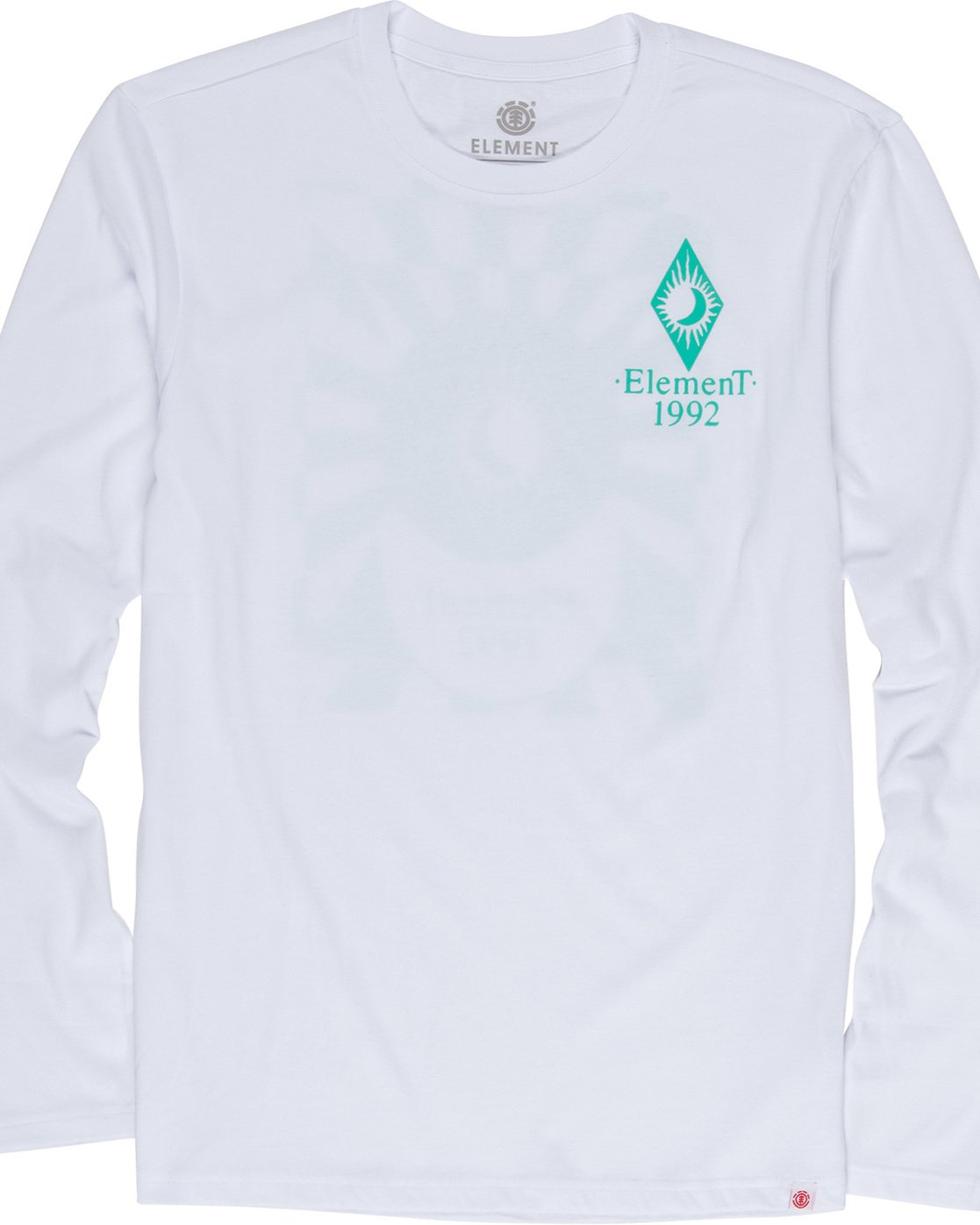 5 Ambience - Maglietta a Maniche Lunghe da Uomo White Q1LSB2ELF9 Element
