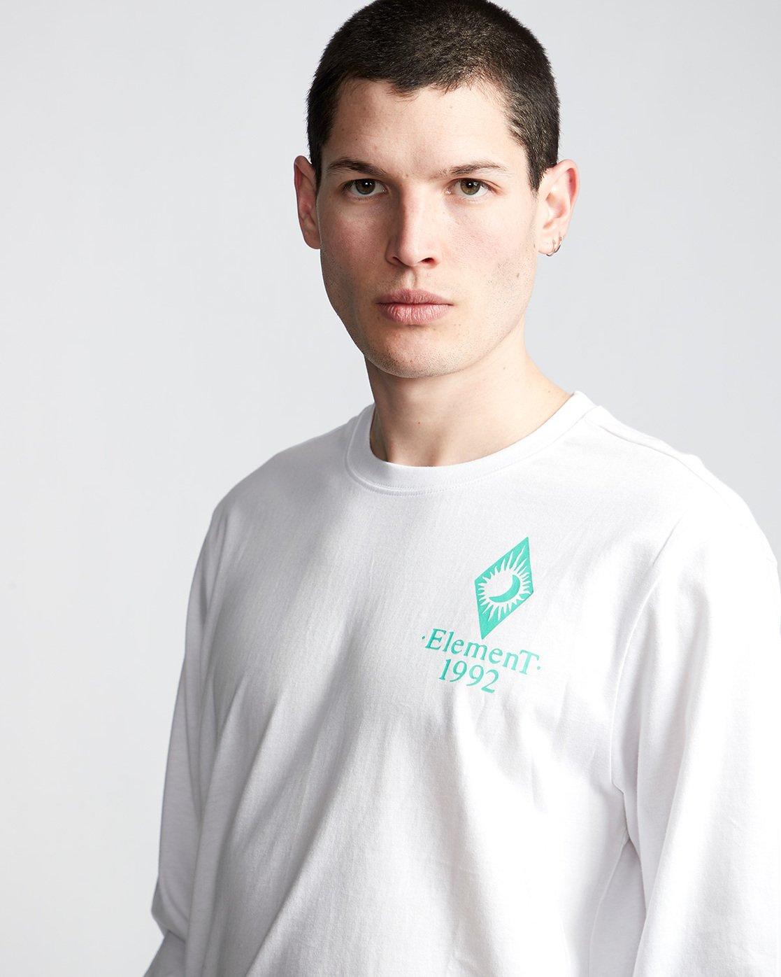 1 Ambience - Maglietta a Maniche Lunghe da Uomo White Q1LSB2ELF9 Element
