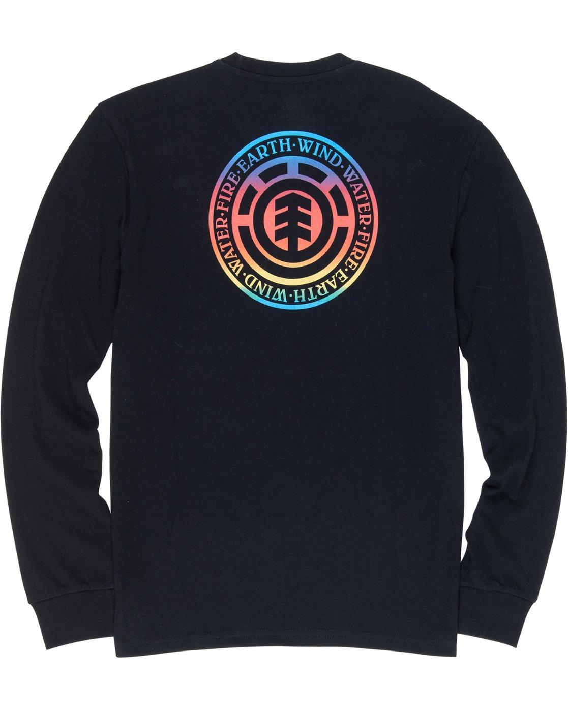 6 Seal Gradient - Long Sleeve T-Shirt Black Q1LSB3ELF9 Element