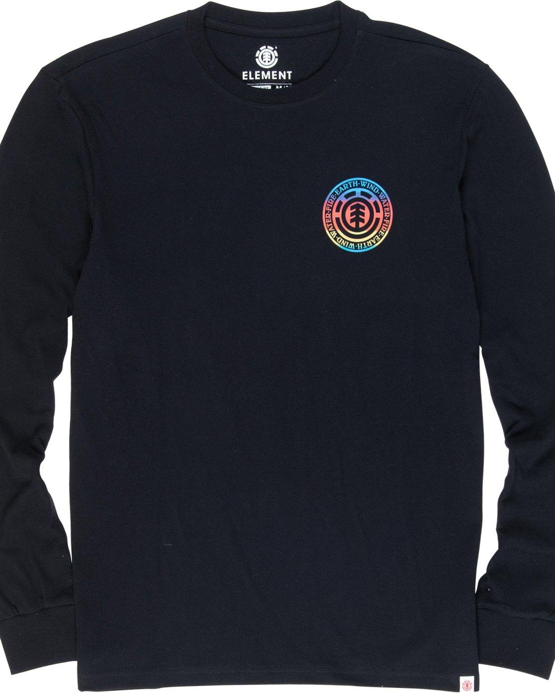 5 Seal Gradient - Long Sleeve T-Shirt Black Q1LSB3ELF9 Element