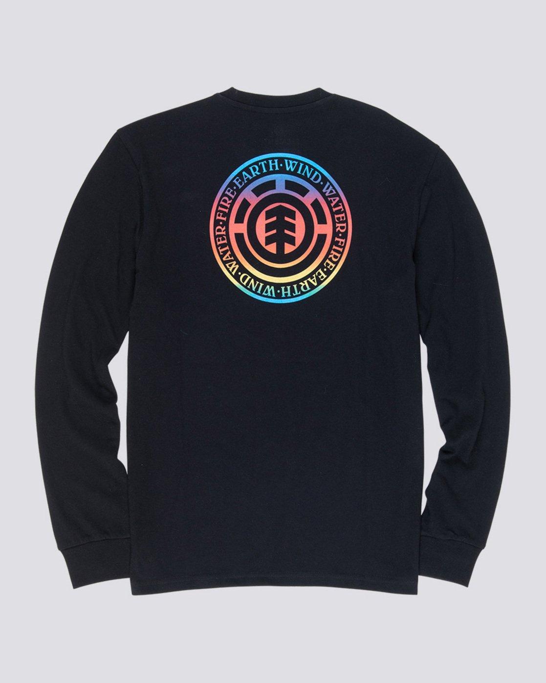 4 Seal Gradient - Long Sleeve T-Shirt Black Q1LSB3ELF9 Element