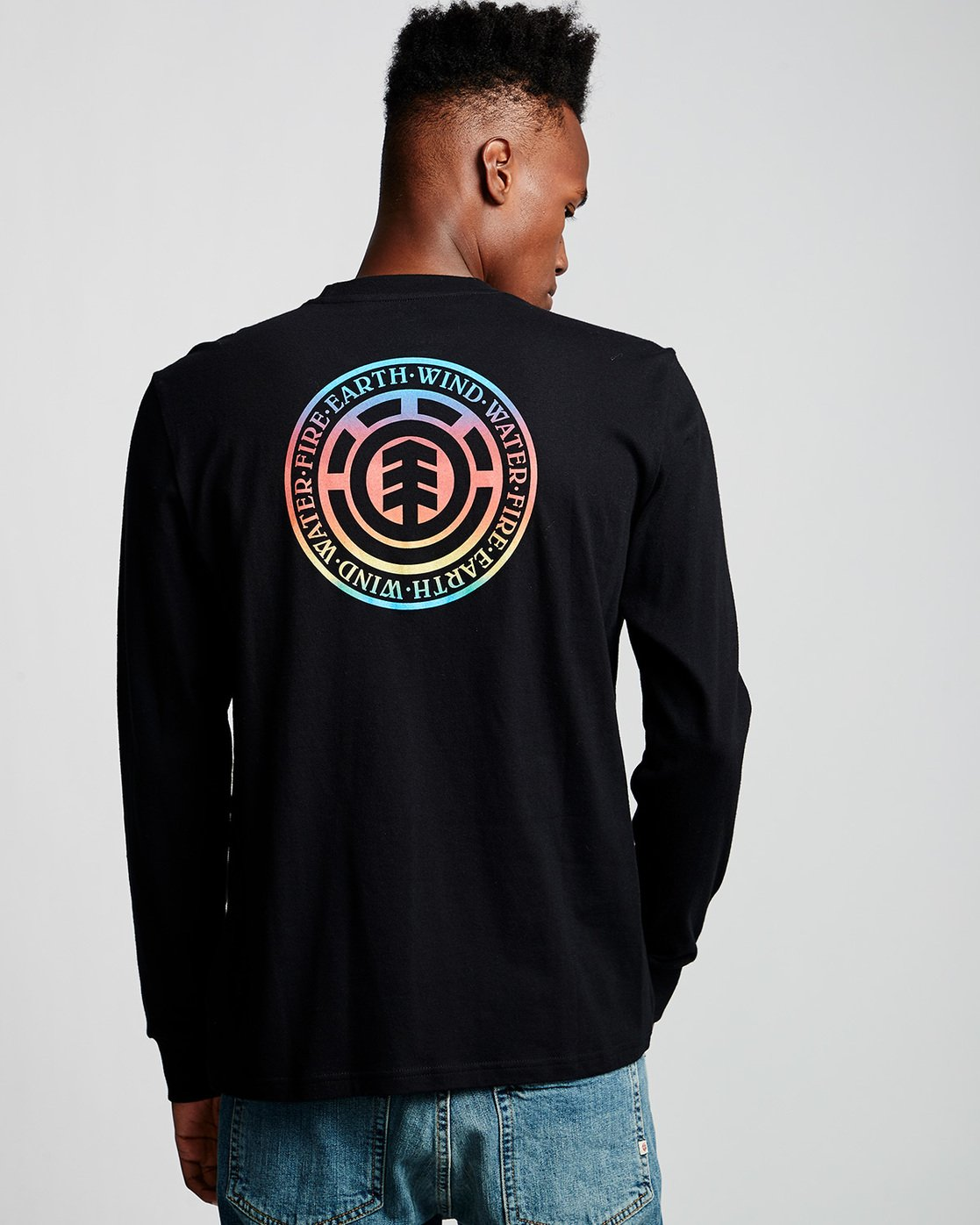 2 Seal Gradient - Long Sleeve T-Shirt Black Q1LSB3ELF9 Element