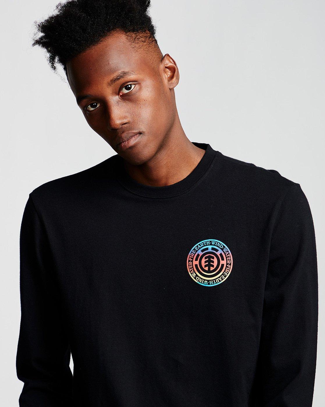 1 Seal Gradient - Long Sleeve T-Shirt Black Q1LSB3ELF9 Element