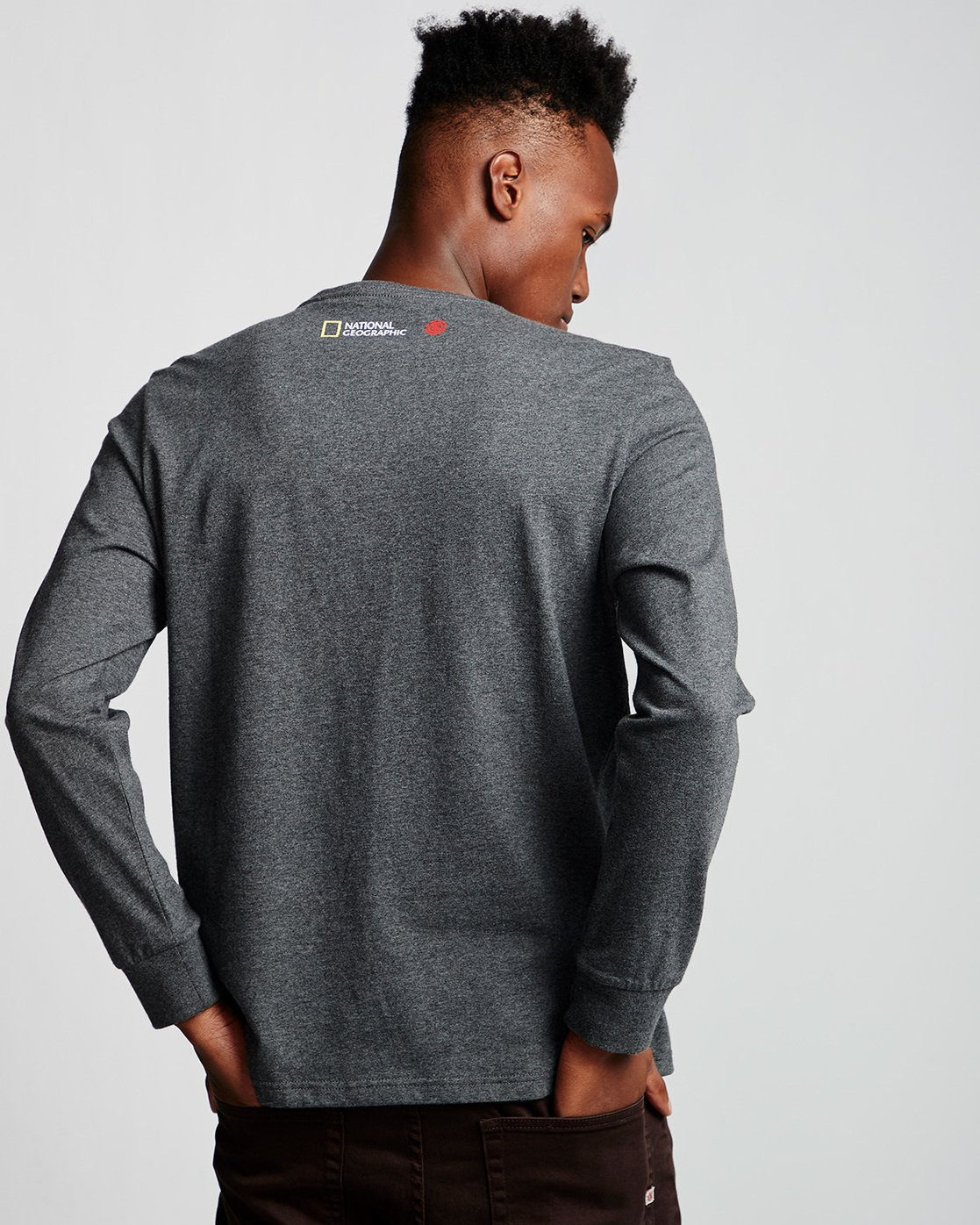2 Shark Fletcher - Long Sleeve T-Shirt Grey Q1LSB5ELF9 Element