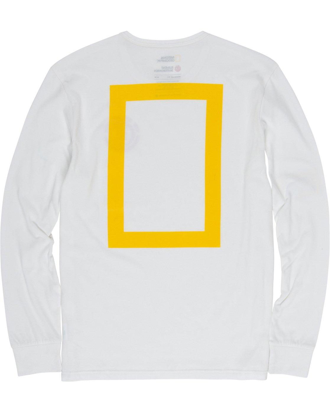 6 Unison - Long Sleeve T-Shirt White Q1LSB8ELF9 Element