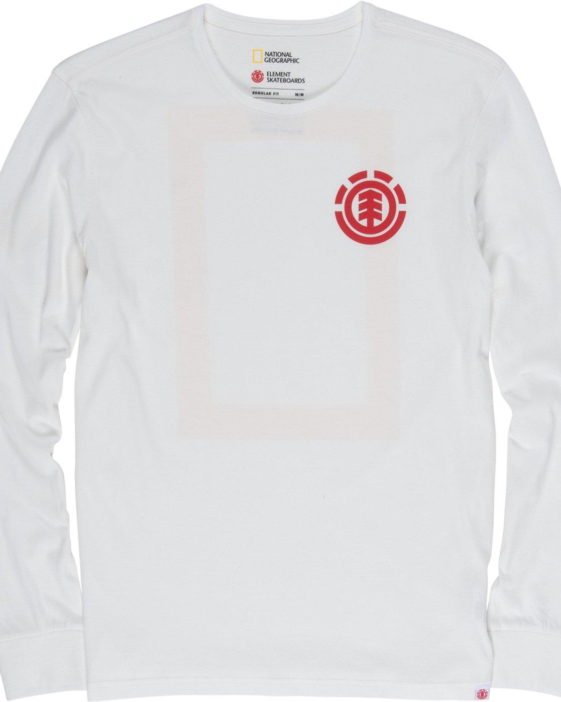 5 Unison - Long Sleeve T-Shirt White Q1LSB8ELF9 Element