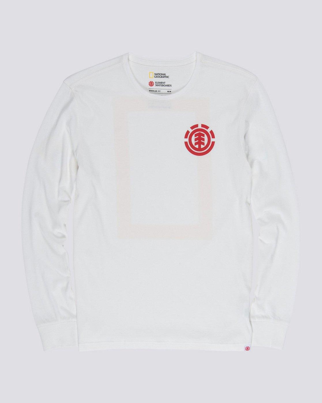 3 Unison - Long Sleeve T-Shirt White Q1LSB8ELF9 Element