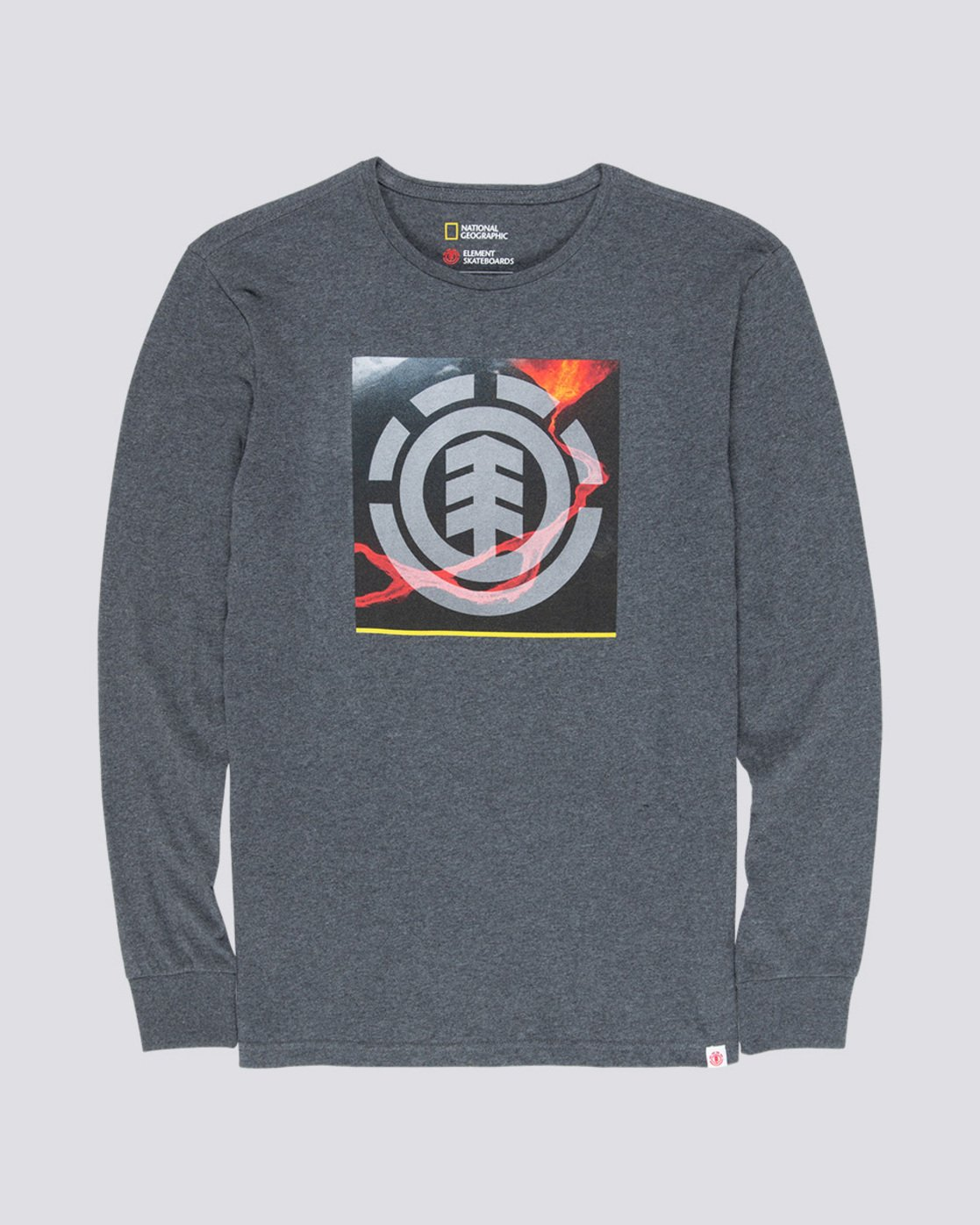 3 Surge Icon - Long Sleeve T-Shirt Grey Q1LSC3ELF9 Element